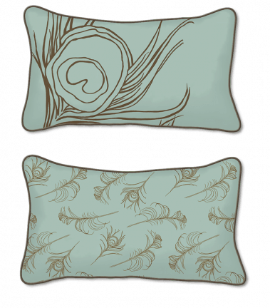Casart Decor_Quill Animalia Accents_SagCinnamon-12x20-w_pillow slipcover