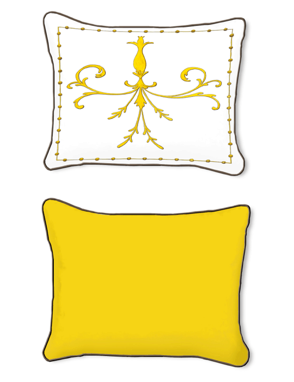 Casart Decor_Grotesca Scroll-A_14x18 front and abackpillow slipcover