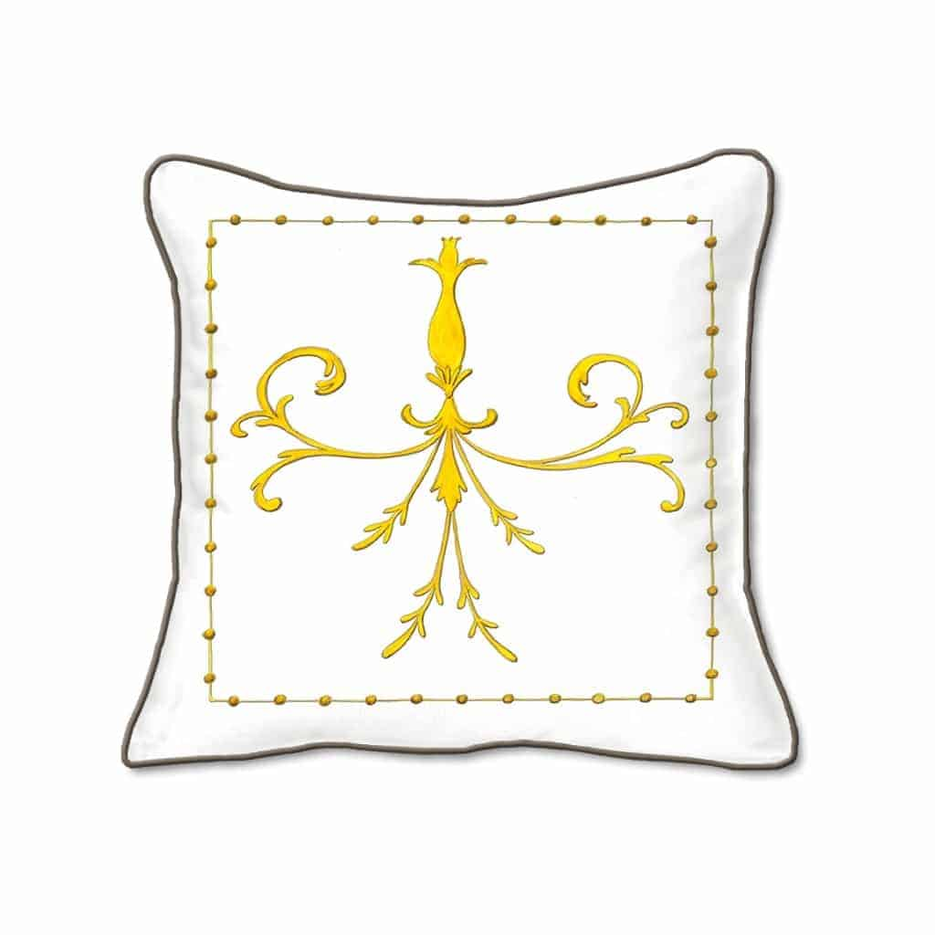 Casart Decor_Grotesca Scroll Architectural Accents pillow slipcover
