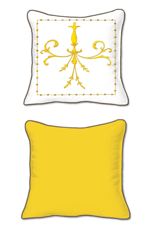 Casart Decor_Grotesca Scroll-A_SQ front and back pillow slipcover