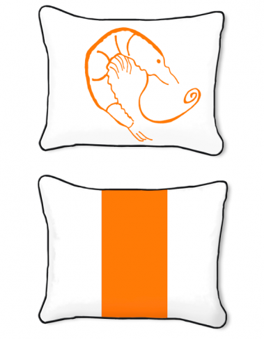 Casart Decor_Shrimp Creole_Orange 14x18-w_pillow slipcover
