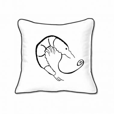 Casart Decor_Shrimp Creole Coastal _black-A_SQ-w_pillow slipcover