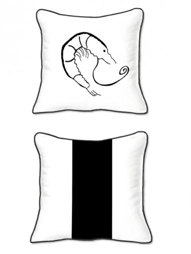 Casart Decor_Shrimp Creole Coastal_bw-SQ-w_pillow slipcover