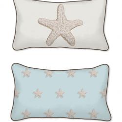 Casart Decor_Starfish-Coastal_12x20-w_pillow slipcover