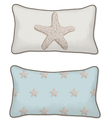 Casart Decor_Starfish-Coastal_12x20-w_pillow slipcover
