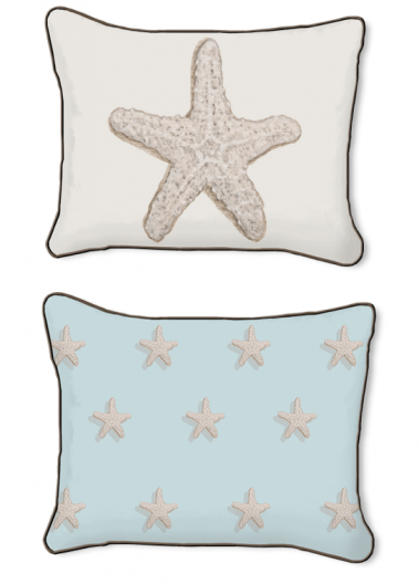 Casart Decor_Starfish-Coastal_14x18-w_pillow slipcover