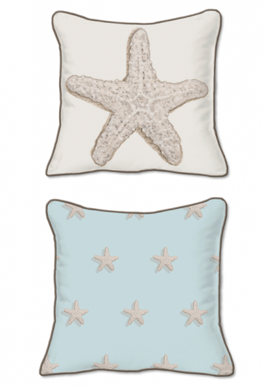 Casart Decor_Starfish-Coastal_SQ-w_pillow slipcover
