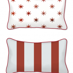 Casart Decor_Stars-Stripes-12x20 front and back pillow slipcover