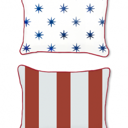 Casart Decor_Stars-Stripes-14x18 front and back pillow slipcover