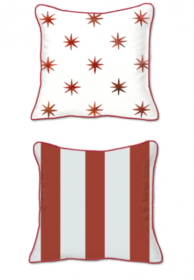 Casart Decor_Stars-Stripes_SQ - front and back pillow slipcover