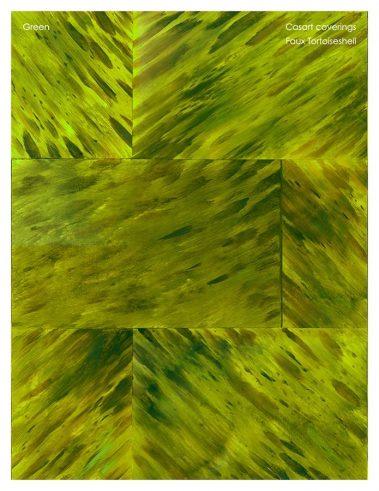 Casart coverings Faux Tortoiseshell 1 Green_sample