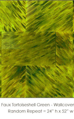 Casart coverings_Faux Tortoiseshell 1 Green_wallcovering
