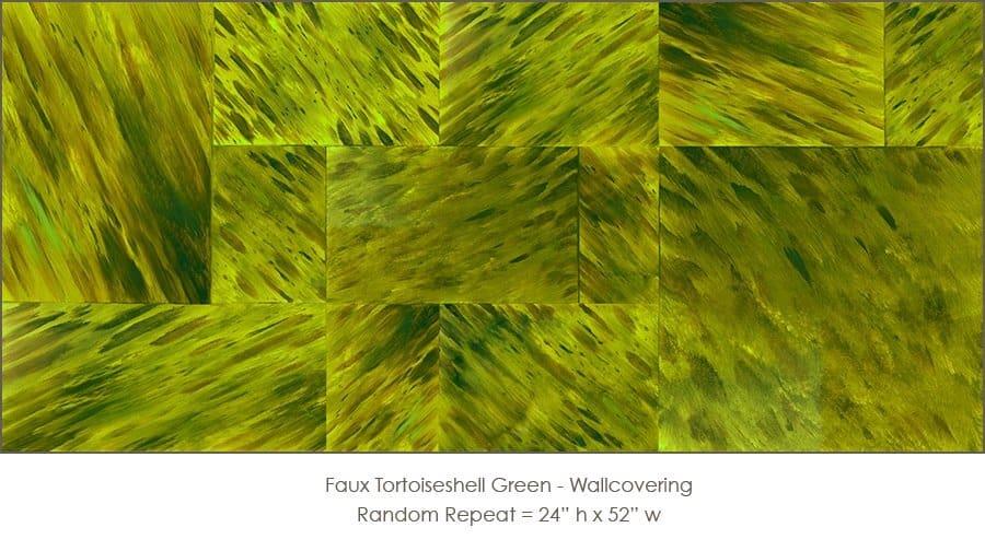 Casart coverings_Faux Tortoiseshell 1 Green_wallcovering