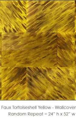 Casart coverings_Faux Tortoiseshell 1 Yellow_wallcovering