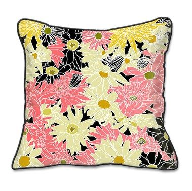 Casart coverings Flower Power Botanical Pillow Slipcover
