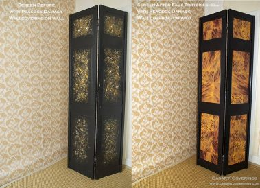 Casart coverings Black Screen Before-After Tortoiseshell_0091Damask_web