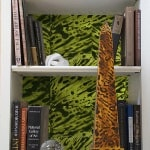 Casart coverings_KRC_Green Faux Tortoiseshell Bookcase Backings