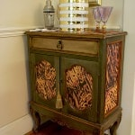 Casart Coverings Example of Type of Faux Tortoiseshell Resurfaced Cabinet_Custom Project