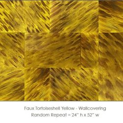 Casart coverings Tortoiseshell 1 Yellow_wallcovering_variation
