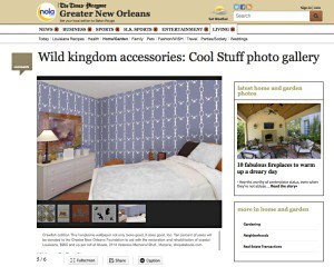 Casart coverings in Times Picayune_Crawfish Cotillion wallpaper as Wild Animal Accessories