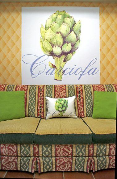 Casart Decor_Artichaut-wallcovering and pillowcover