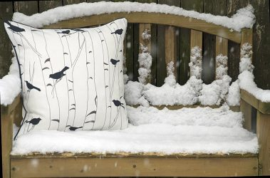 Casart Decor_reversible_Birds and Birch all-weather pillowcover_back