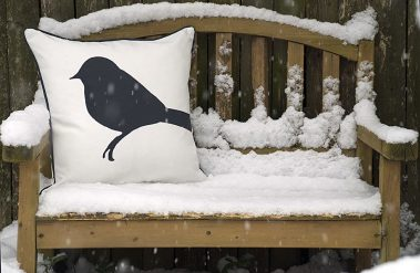 Casart Decor_reversible_Birds and Birch all-weather pillowcover_front