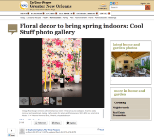 TImes Picayune_Casart coverings Flower Power_March 2014