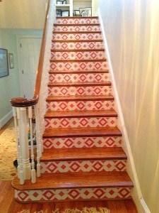 Casart cusromer_Faux Tile Stair risers-after
