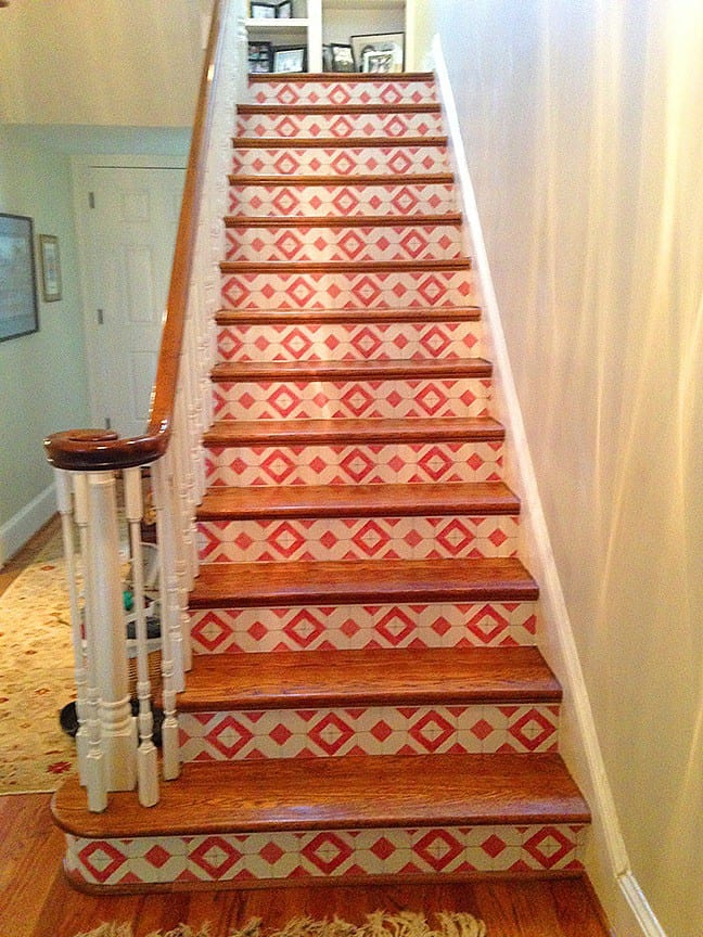 Casart cusromer_Faux Tile Stair risers-after