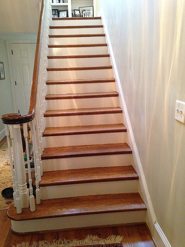 Casart Custromer Faux Tile Stair Risers Before