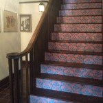 Customer Stair Risers Solved After Peacock Damask