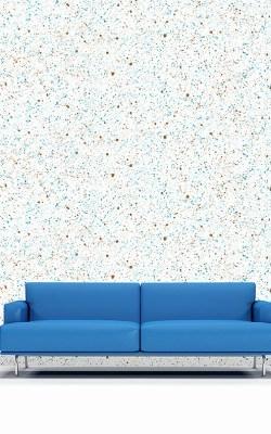 Casart splatter pattern reusable wallpaper with sofa room view
