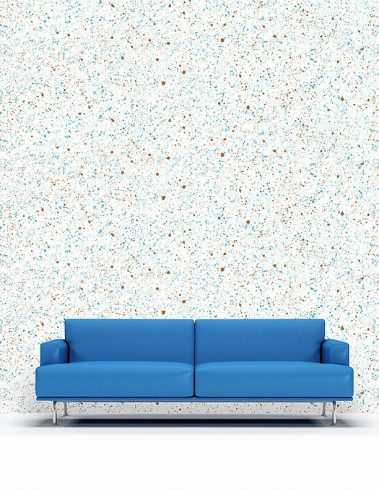 Casart splatter pattern reusable wallpaper with sofa room view