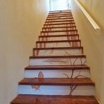 Casart Customer creates spectacular stairwell with Casart Woodland Stream Mural