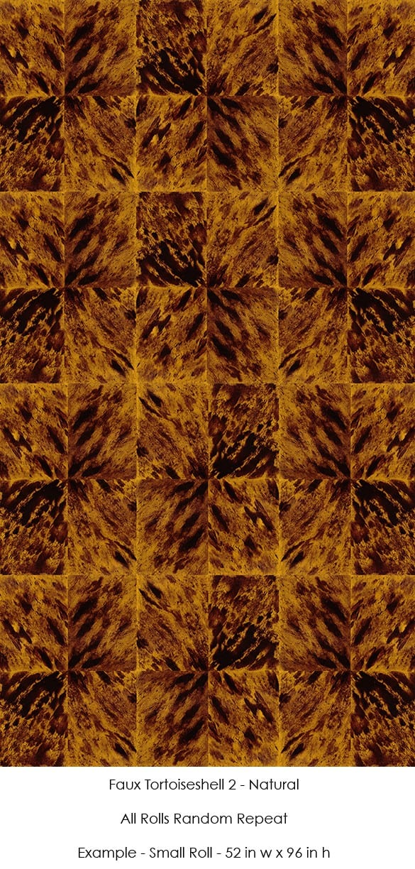 Casart Coverings Faux Tortoiseshell 2 Natural self adhesive wallpaper