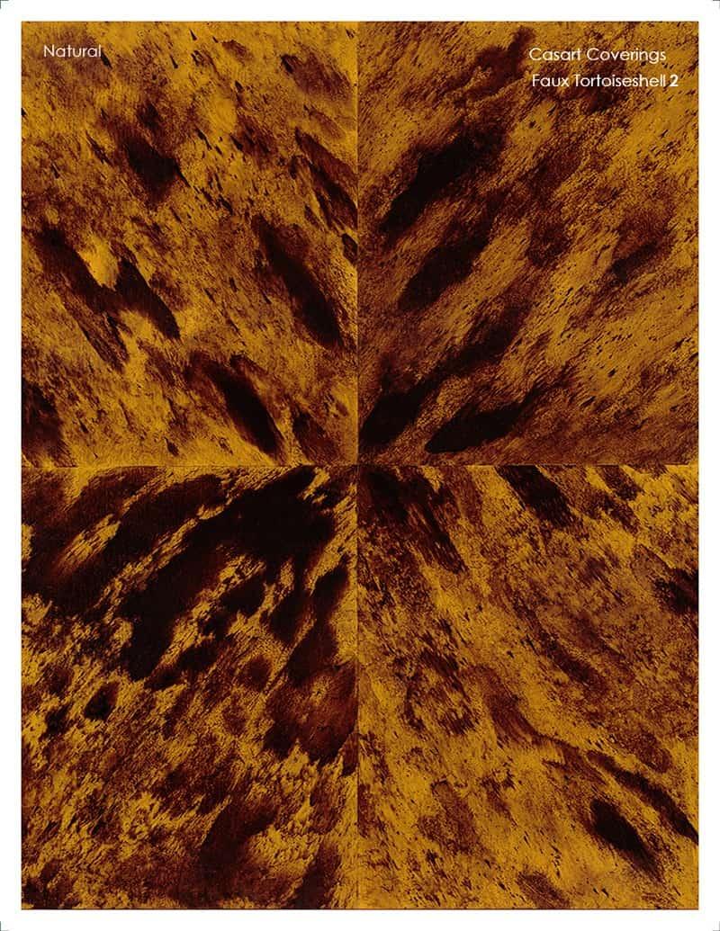 Casart Coverings Faux Tortoiseshell 2 Natural removable wallpaper sample
