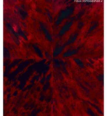 Casart Coverings Faux Tortoiseshell 2 Red removable wallpaper Sample
