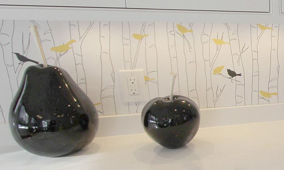 Mary Rosenberg Interiors uses Casart coverings Birds and Birch wallpaper 1