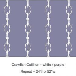 Pattern - Casart Crawfish Cotillion white light purple single crawfish dancing design on temporary wallpaper
