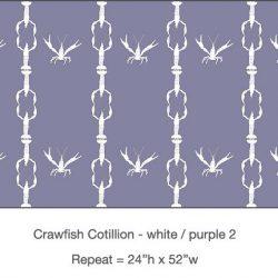 Pattern - Casart Crawfish Cotillion white light purple double crawfish dancing design on temporary wallpaper
