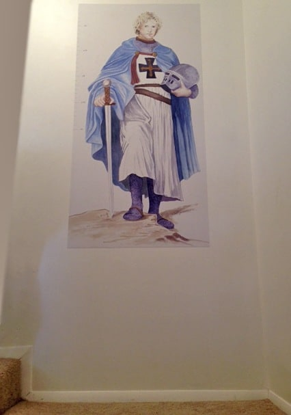 Casart Customer_Prince Growth Chart with blue cape
