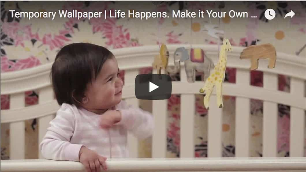 Life happens casart coverings temporary wallpaper video