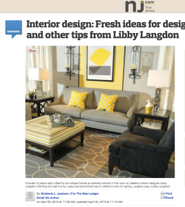 NJ Star Ledger_Libby Langdon and Casart coverings press
