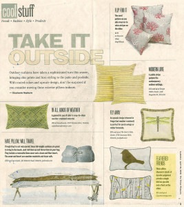 Times Picayune Features Casart Outdoor Pillow press