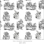 Casart coverings 1_Alice in Wonderland Toile_1-black-white_Bookcase Backing