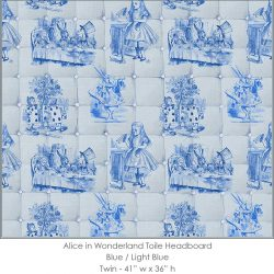 Casart coverings Alice in Wonderland HEADBOARD_Twin blue