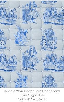 Casart coverings Alice in Wonderland HEADBOARD_Twin blue