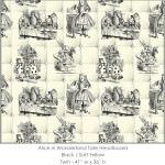 Casart coverings Alice in Wonderland HEADBOARD_Twin_black-yellow
