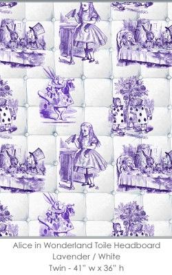 Casart coverings Alice in Wonderland HEADBOARD_Twin_lavender